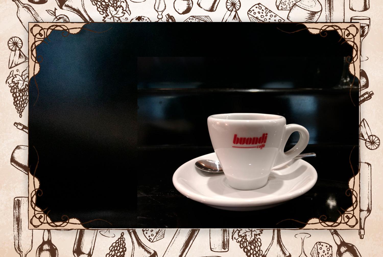 """Mi despedida: """"Suele ser un espresso de Buondi, el café que sirven en Taiko""""."""